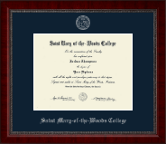 Saint Mary-of-the-Woods College Diploma Frame - Silver Embossed Diploma Frame in Sutton