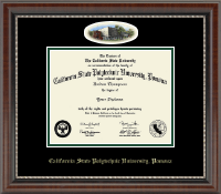 California State Polytechnic University, Pomona Diploma Frame - Campus Cameo Diploma Frame in Chateau