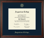 Augustana College South Dakota Diploma Frame - Gold Embossed Diploma Frame in Studio