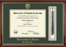 University of Alaska Anchorage Diploma Frame - Tassel Edition Diploma Frame in Southport Gold