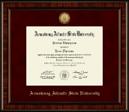 Armstrong Atlantic State University Diploma Frame - Gold Engraved Medallion Diploma Frame in Ridgewood