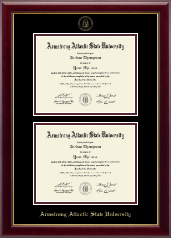 Armstrong Atlantic State University Diploma Frame - Double Document Diploma Frame in Gallery