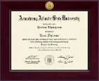 Armstrong Atlantic State University Diploma Frame - Century Gold Engraved Diploma Frame in Cordova
