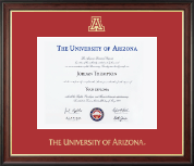The University of Arizona Diploma Frame - Gold Embossed Diploma Frame in Studio Gold