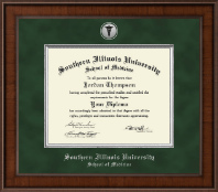Southern Illinois University School of Medicine Diploma Frame - Presidential Silver Engraved Diploma Frame in Madison