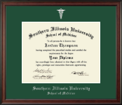 Southern Illinois University School of Medicine Diploma Frame - Silver Embossed Diploma Frame in Studio