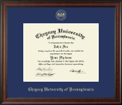 Cheyney University Diploma Frame - Gold Embossed Diploma Frame in Studio