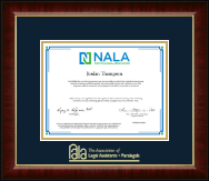 National Association of Legal Assistants & Paralegals Certificate Frame - Gold Embossed Certificate Frame in Murano
