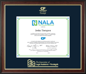 National Association of Legal Assistants & Paralegals Certificate Frame - Gold Embossed Certificate Frame in Studio Gold