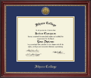 Ithaca College Diploma Frame - Gold Engraved Medallion Diploma Frame in Kensington Gold