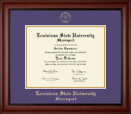 Louisiana State University at Shreveport Diploma Frame - Gold Embossed Diploma Frame in Cambridge