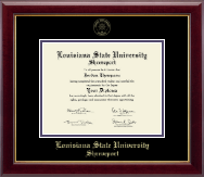 Louisiana State University at Shreveport Diploma Frame - Gold Embossed Diploma Frame in Gallery