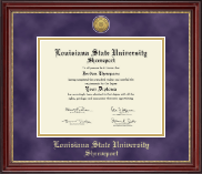 Louisiana State University at Shreveport Diploma Frame - Gold Engraved Medallion Diploma Frame in Kensington Gold