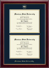 Montana State University Bozeman Diploma Frame - Double Diploma Frame in Gallery