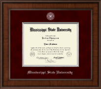 Mississippi State University Diploma Frame - Presidential Pewter Masterpiece Diploma Frame in Madison