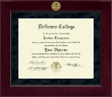 Defiance College Diploma Frame - Millennium Gold Engraved Diploma Frame in Cordova