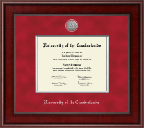 University of the Cumberlands Diploma Frame - Presidential Silver Engraved Diploma Frame in Jefferson