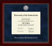 University of the Cumberlands Diploma Frame - Silver Engraved Medallion Diploma Frame in Sutton