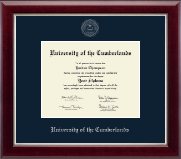 University of the Cumberlands Diploma Frame - Silver Embossed Diploma Frame in Gallery Silver