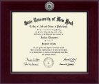 Plattsburgh State University Diploma Frame - Century Silver Engraved Diploma Frame in Cordova