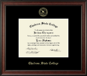 Chadron State College Diploma Frame - Gold Embossed Diploma Frame in Studio
