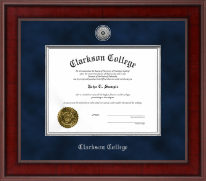 Clarkson College Diploma Frame - Presidential Silver Engraved Diploma Frame in Jefferson