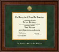 The University of Texas Pan American Diploma Frame - Presidential Gold Engraved Diploma Frame in Madison