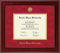 Lenoir-Rhyne University Diploma Frame - Presidential Gold Engraved Diploma Frame in Jefferson