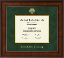 Portland State University Diploma Frame - Presidential Gold Engraved Diploma Frame in Madison