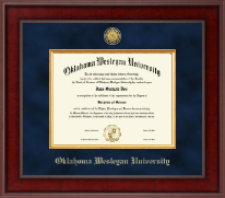 Oklahoma Wesleyan University Diploma Frame - Presidential Gold Engraved Diploma Frame in Jefferson