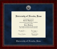 University of Nevada Reno Diploma Frame - Silver Engraved Medallion Diploma Frame in Sutton