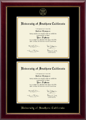 University of Southern California Diploma Frame - Double Diploma Frame in Gallery