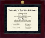 University of Southern California Diploma Frame - Millennium Gold Engraved Diploma Frame in Cordova