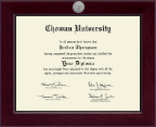 Chowan University Diploma Frame - Century Silver Engraved Diploma Frame in Cordova