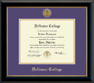 Defiance College Diploma Frame - Gold Engraved Medallion Diploma Frame in Onyx Gold