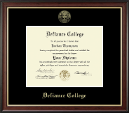 Defiance College Diploma Frame - Gold Embossed Diploma Frame in Studio Gold