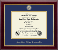 San Jose State University Diploma Frame - Masterpiece Medallion Diploma Frame in Gallery