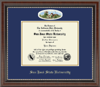San Jose State University Diploma Frame - Campus Cameo Diploma Frame in Chateau