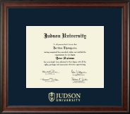 Judson University Diploma Frame - Gold Embossed Diploma Frame in Studio