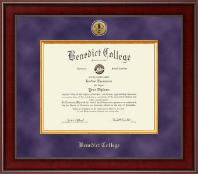 Benedict College Diploma Frame - Presidential Gold Engraved Diploma Frame in Jefferson