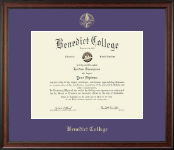 Benedict College Diploma Frame - Gold Embossed Diploma Frame in Studio