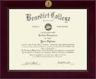 Benedict College Diploma Frame - Century Gold Engraved Diploma Frame in Cordova