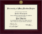 University of Mary Hardin Baylor Diploma Frame - Century Gold Engraved Diploma Frame in Cordova