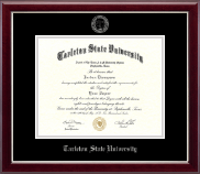 Tarleton State University Diploma Frame - Silver Embossed Diploma Frame in Gallery Silver