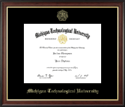 Michigan Technological University Diploma Frame - Gold Embossed Diploma Frame in Studio Gold