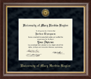 University of Mary Hardin Baylor Diploma Frame - Gold Engraved Medallion Diploma Frame in Hampshire