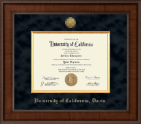 University of California Davis Diploma Frame - Presidential Gold Engraved Diploma Frame in Madison