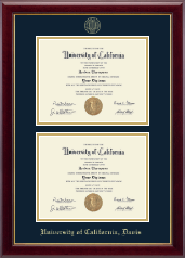 University of California Davis Diploma Frame - Double Diploma Frame in Gallery