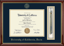University of California Davis Diploma Frame - Tassel Edition Diploma Frame in Southport Gold