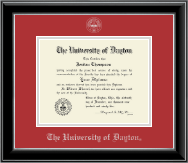 University of Dayton Diploma Frame - Silver Embossed Diploma Frame in Onyx Silver